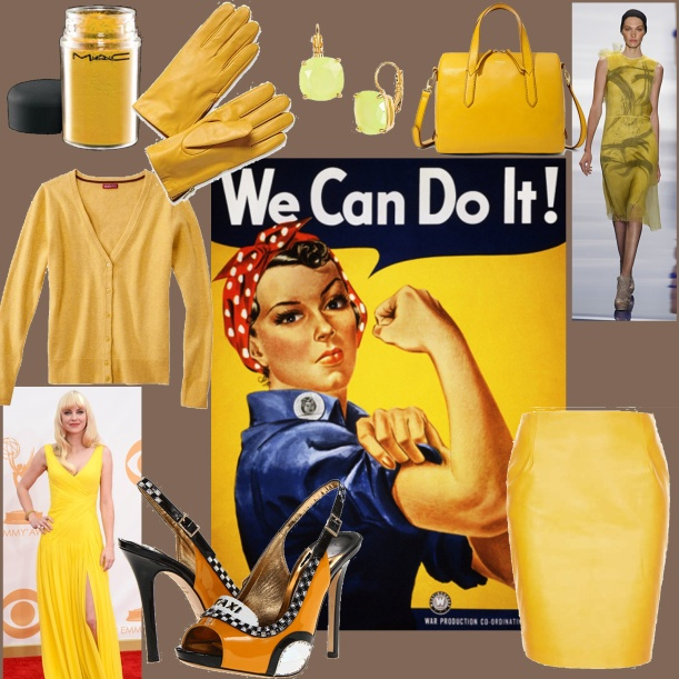 yellow_mac_targetsweater_katespadetaxishoe_topshopleatherskirt_fossilbag