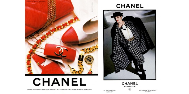 chanel_1980s_ads_red_black_white_leather_chain_suit
