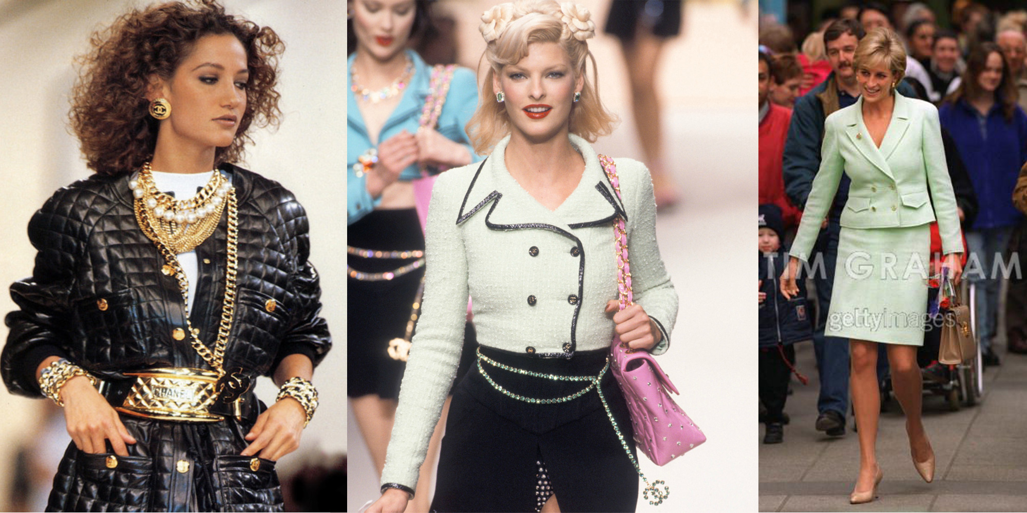 Grunge fashion 1990s men 1990s grunge fashion related keywords - Filename Chanel_1991runway_1995runway_princessdiana1997 Jpg