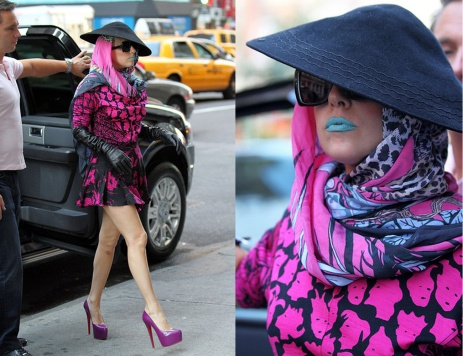 gaga-Pinkdress_teallipstick_nyc